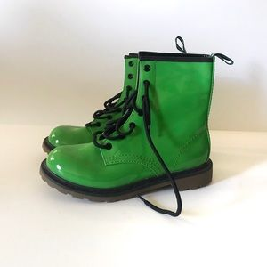 NWT Grunge Rock Green Combat Boots